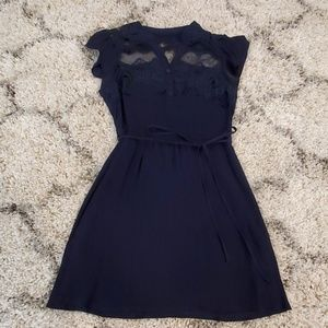 Sheer and lace casual dress